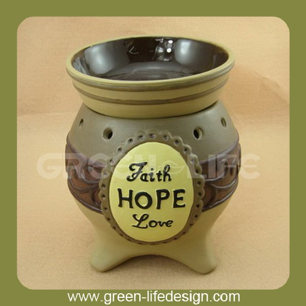 Ceramic electric aroma essential oil burner for home decor