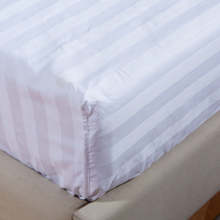 queen size fitted sheet elastic fitted bed sheet with 100% 200tc cotton wholesale