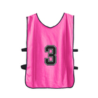 Sublimated Customized Pink Blank Football Sport Vest Free size bibs