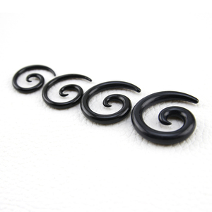 Mix size 3-12mm Black and white acrylic Ear Taper Set Expander plug body piercing jewelry