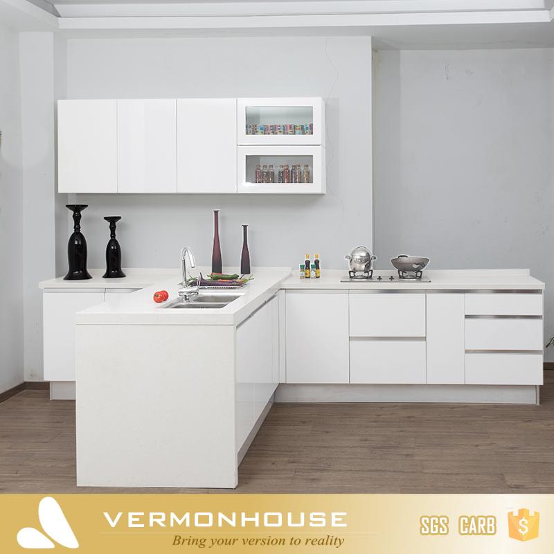 2017 vermont witte kleur aangepaste size thuis keuken muur opknoping kast keuken kasten product - Aangepaste kast ...