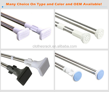 Install Shower Curtain Rod Plastic Rods Factory