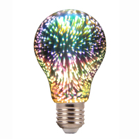Colorful home Decorative LED Bulb Lamp, G125 A60, 3D Light Filament Bulb