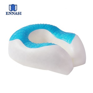 Amazon Gel Cooling Neck Pillow Memory Foam Pillow Visco Elastic Cord Travel Gel U Shape Neck Support Pillow for Summer