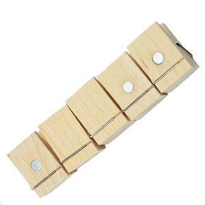 OEM Arts & Crafts Natural Color Beech Wood Magnetic Wooden Paper Clip