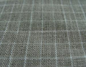 100% plain linen Natural/White fabric