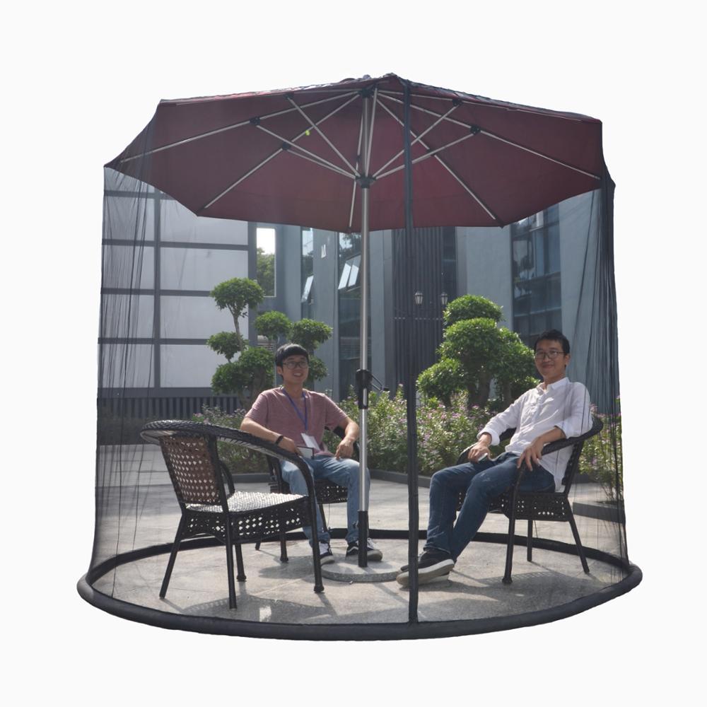 Outdoor Garden Yard Patio Table Umbrella Netting Mosquito Screening Camping Rv