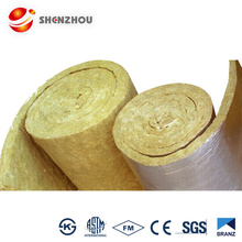 Heat Insulation 80kg/m3 Rock Wool Blanket / Roll / Felt / Tape Fireproof Insulation