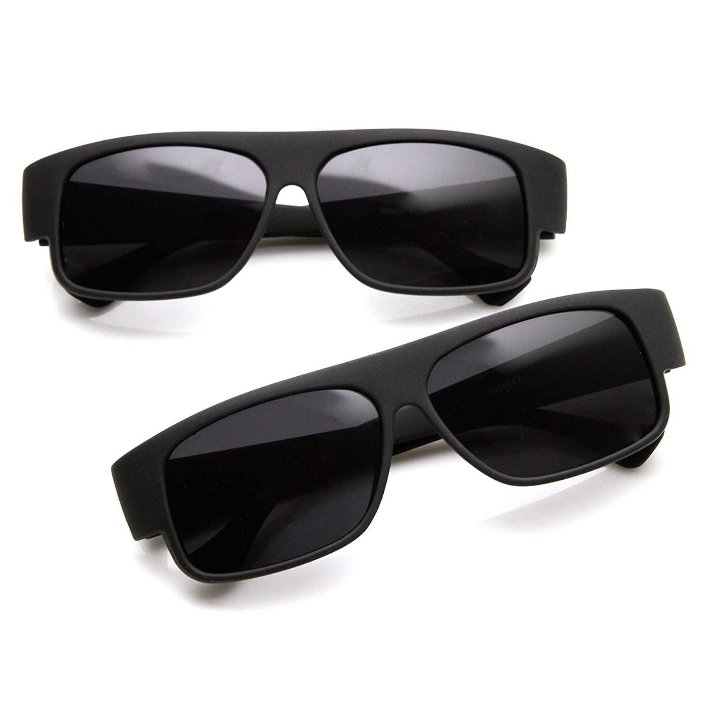 Get Quotations · OG Classic Mad Dogger Rubber Finish Matte Black Gangsta  Loc Sunglasses