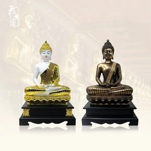 India Religious Resin Meditating Crafts Thai Style Sitting Buddha Statue Wholesale
