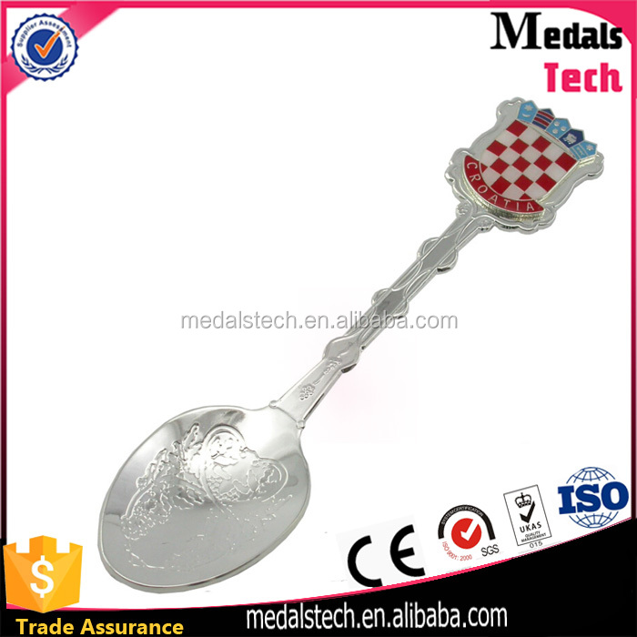 China manufacturer direct sale zinc alloy custom logo metal spoon