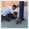Sandy soil layer curing processing used superfine cement