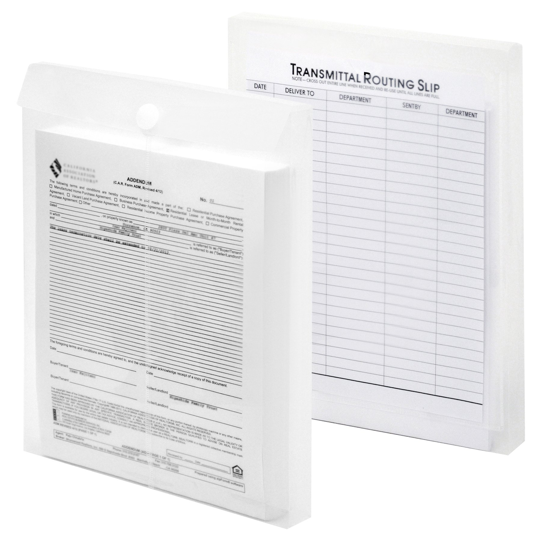 Lion File-N-Send Poly Inter-office Envelopes, 10 x 13 Inches, Clear, 6 EA/Pack, 1 Pack (22700-CR)