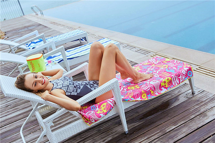 sand free two side printedmicrofiber beach towel colourful design china manufacturer