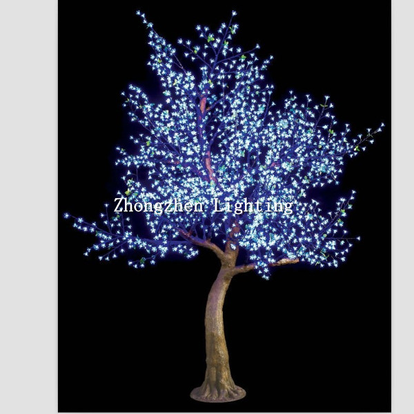 Outdoor Pre Lit Blue Artificial Led Cherry Blossom Tree Light ...