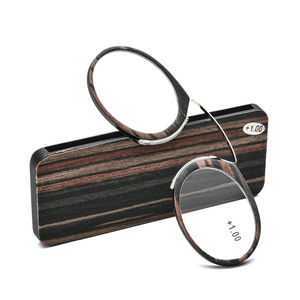 6a7f391bd19 Thin Stripe Optics SOS Pince Nez Style Nose Resting Pinching Reading Glasses  for Old Men Women