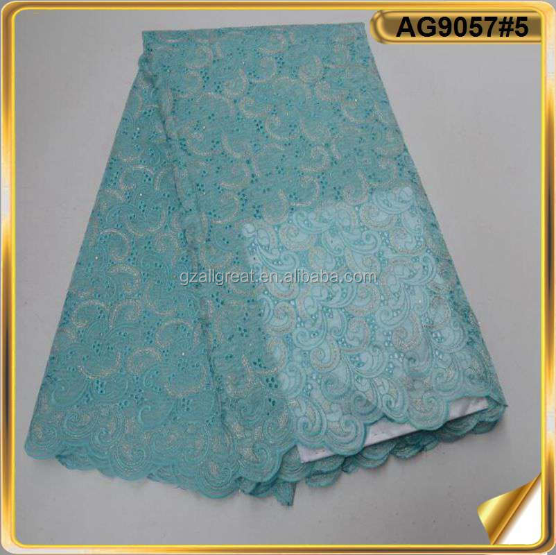 AG9057#5 Latest 2018 French Lace On Sale Nigerian Lace Fabrics With Sequence Handcut Organza Lace Fabric