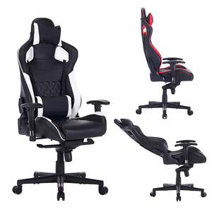 PU Casters won't hurt the floor Racing Gaming Chair Recliner Game Chair
