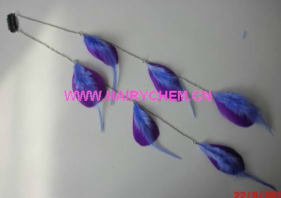 Hot sale!! new style hair feathers extensions with clips wholesale ( HC-1013),Paypal