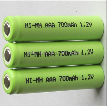 12V 700mAh Ni Mh AAA Rechargeable Batteries Cell Nimh Aaa 700