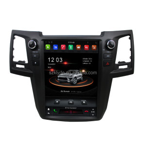Tesla Style Vertical Screen Android 8.1 Ouad-Core 4GB RAM 12.1Inch IPS Touch Screen Car GPS Navigation for Fortuner 2015