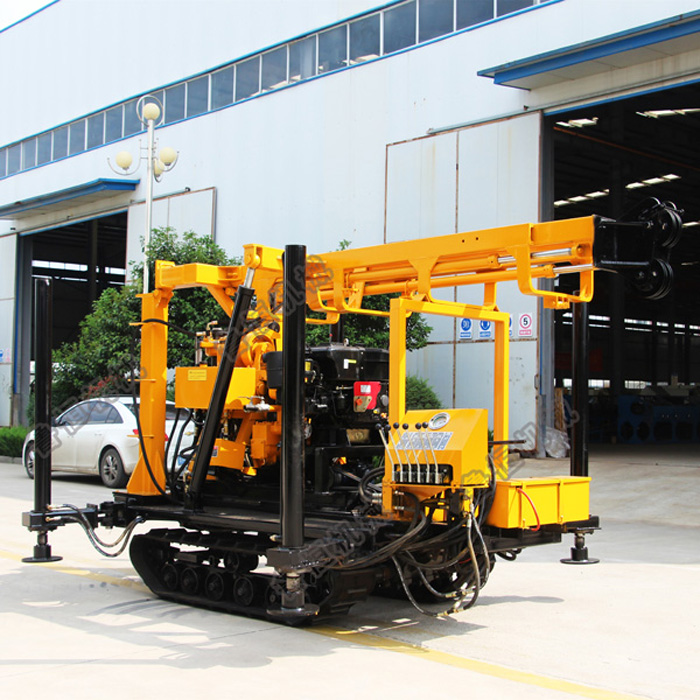 Crawler Mounted Diesel Power Driving Water Well Drilling Rig, Core Drilling Rig, Ore Drilling Rig