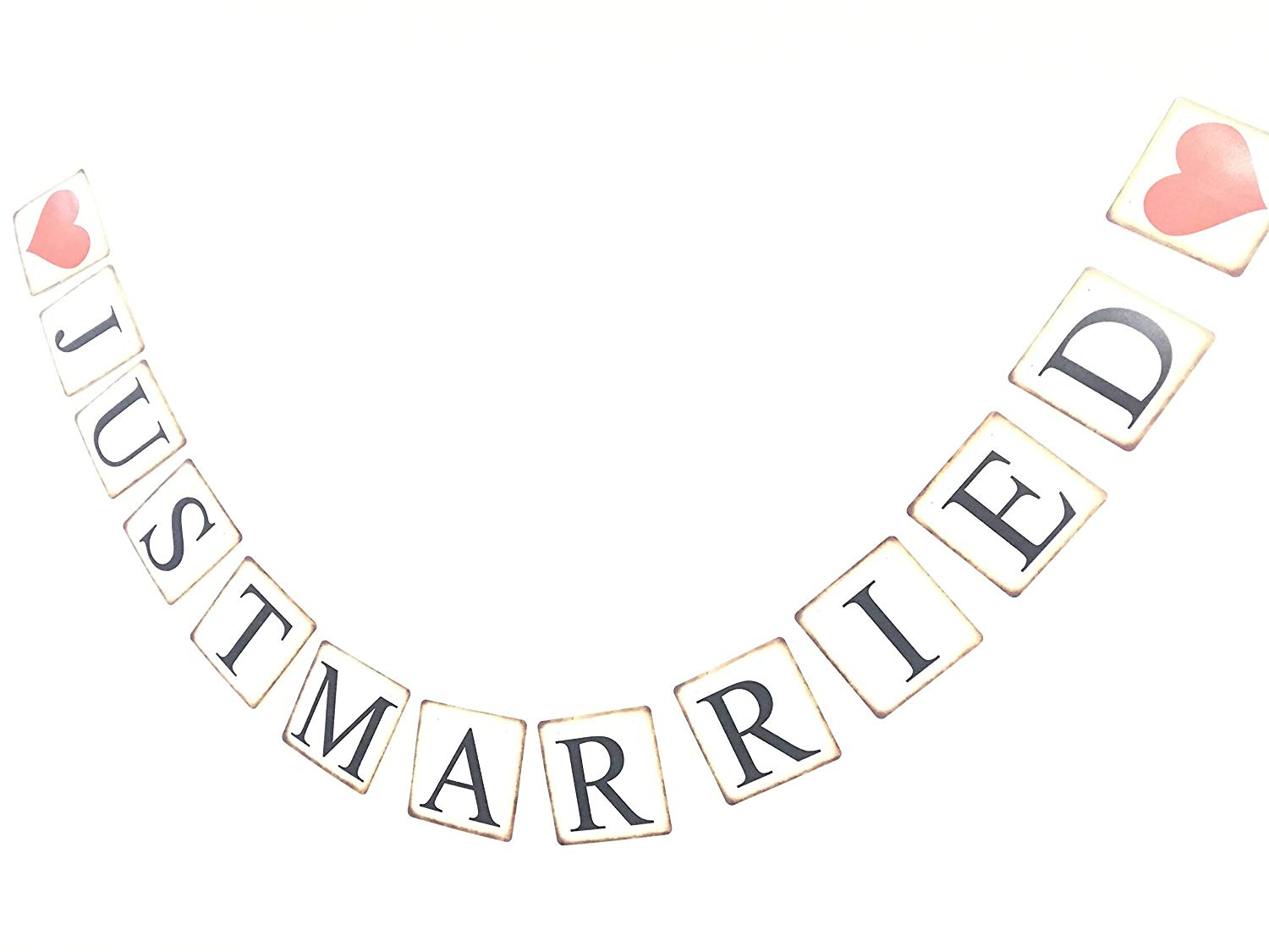 Buy Timemorry Vintage Just Married Banner Wedding Decoration Wedding