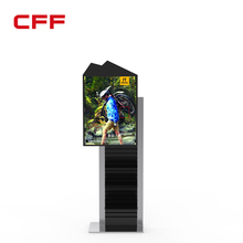 Shoes video screen trade show display output stand racks with rotating style