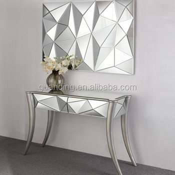 Antique Silver Mirrored Furniture Console Table Coffee