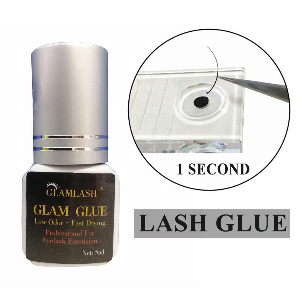 Wholesale custom 5ml 1 Second Fast Dry Low Smell lady black individual eyelash extensions glue fast dry korea lash glue, Black eyelash glue