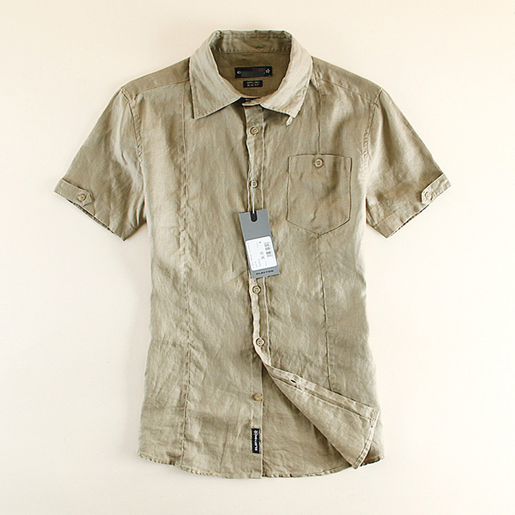 a2799e1a7 Get Quotations · mens\uomo summer short sleeve linen\lino casual\slim fit  shirts homme\