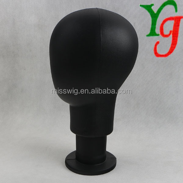 MT-56 Black Soft EVA mannequin head for putting wigs