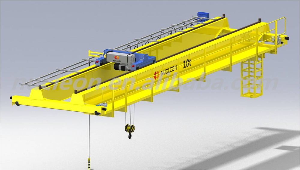 16 ton Electric Rail Mounted Double Girder Overhead Crane Price