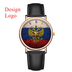 Black Leather Watch Womens Sport Watches Private Label Custom Logo Men Watches
