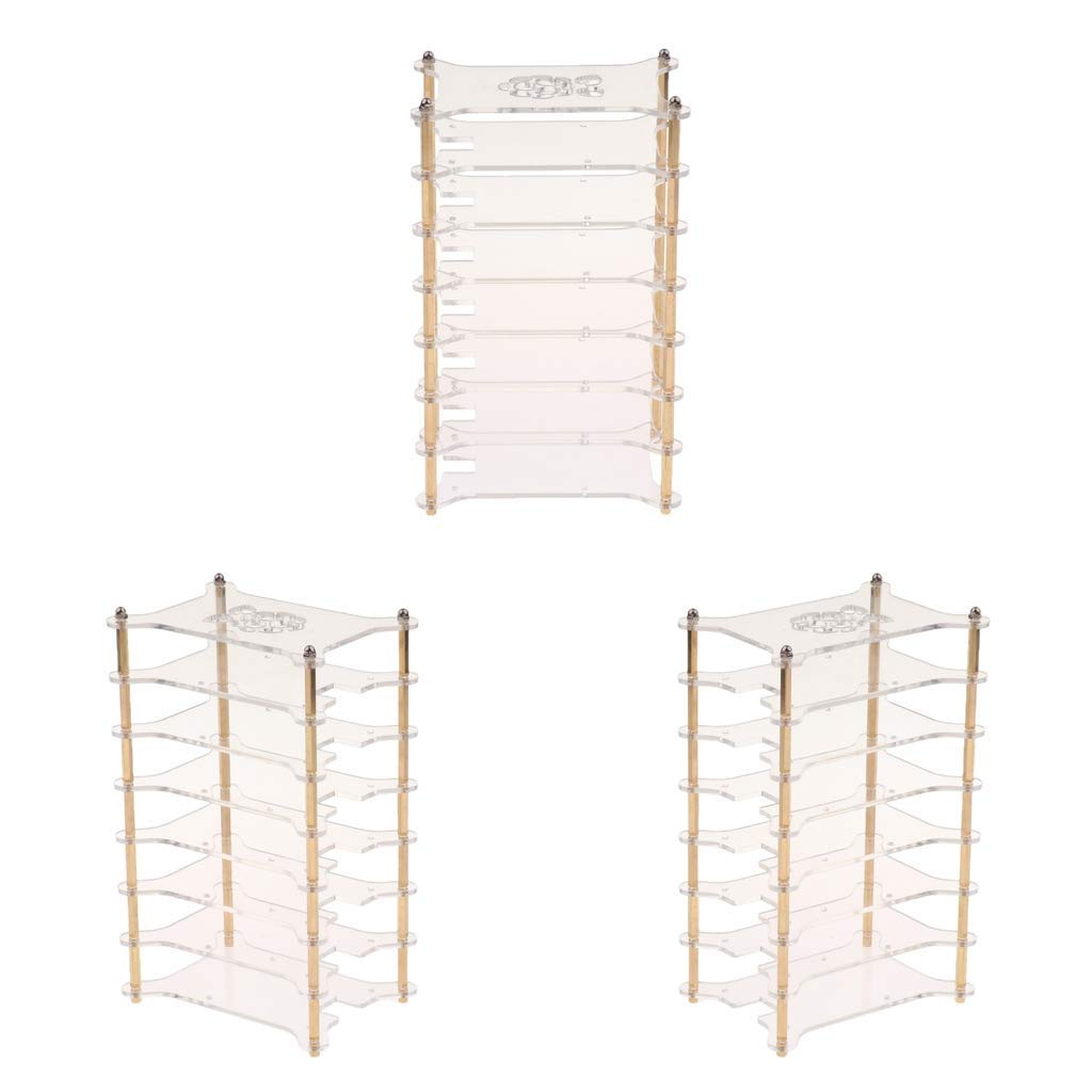 Baosity Clear Acrylic Cluster Case 7 Layer Shelf Stack for Raspberry Pi 3/2 B and B+ - 3 Pack