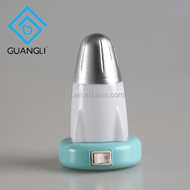 W076 4SMD mini switch plug in rocket LED baby wall night light For Children Bedroom