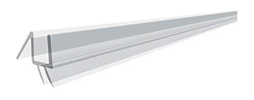 """36"""" Clear Bottom Sweep with Drip Rail for 1/4"""" Glass Shower Doors"""