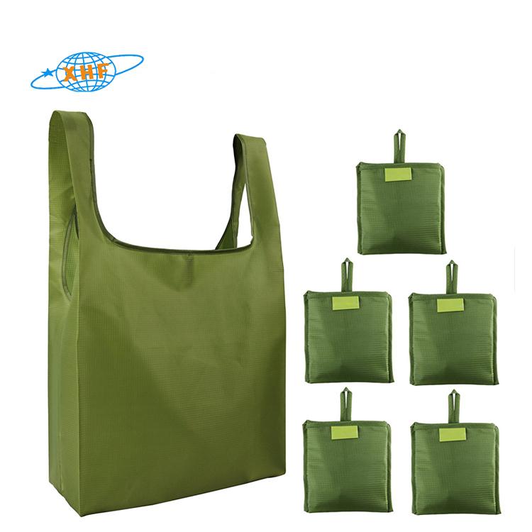 Chine fabricant prix de gros pliable écologique t-shirt sac à provisions