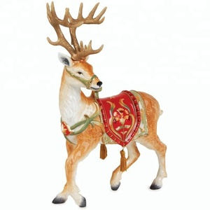 Beautiful design resin animal reindeer sculptures for christmas decoration