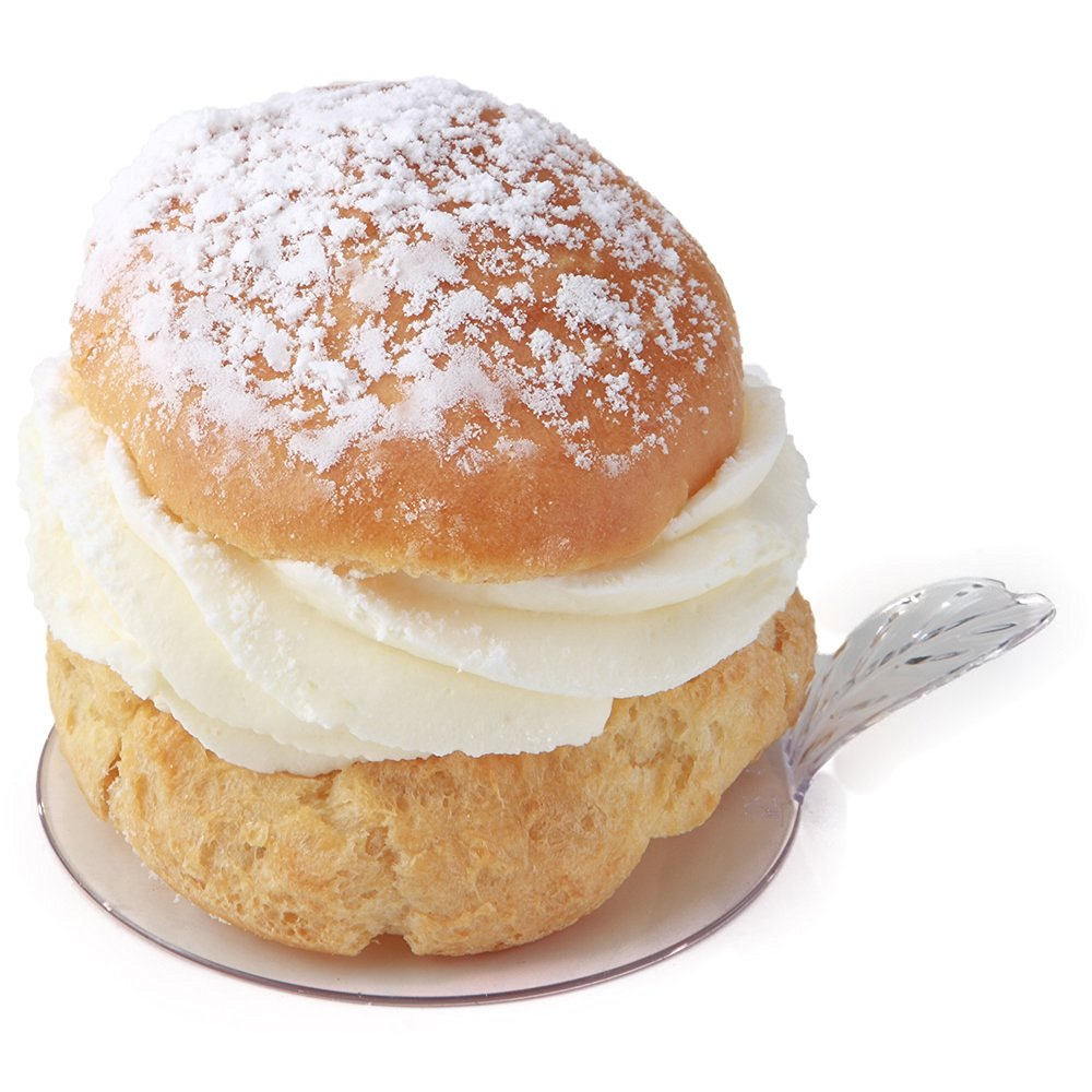 round pastry with white top - 1000×1000