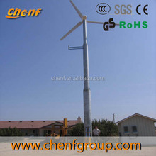 Pitch regulated wind generator 10kw, yawing wind turbine, variable pitch, 120v 380v working voltage Ce approved