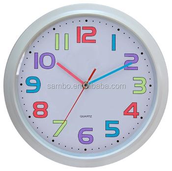 Colorful Number Kids Room Wall Clocks