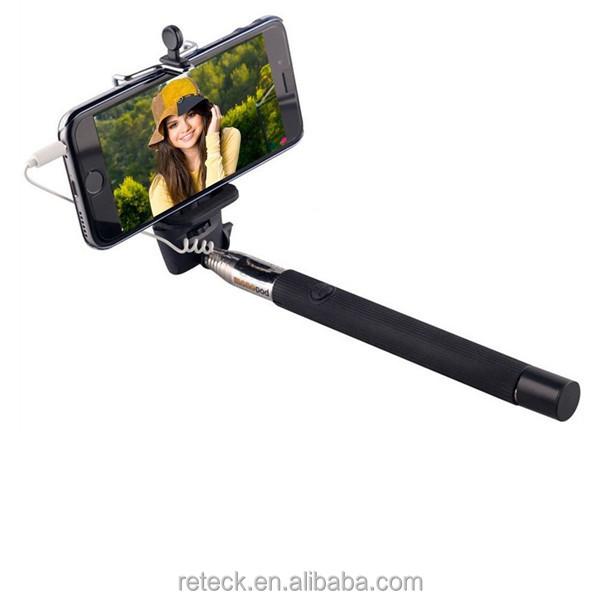 2016 de alta calidad barato palo autofoto palo autofoto con cable para el cab. Black Bedroom Furniture Sets. Home Design Ideas