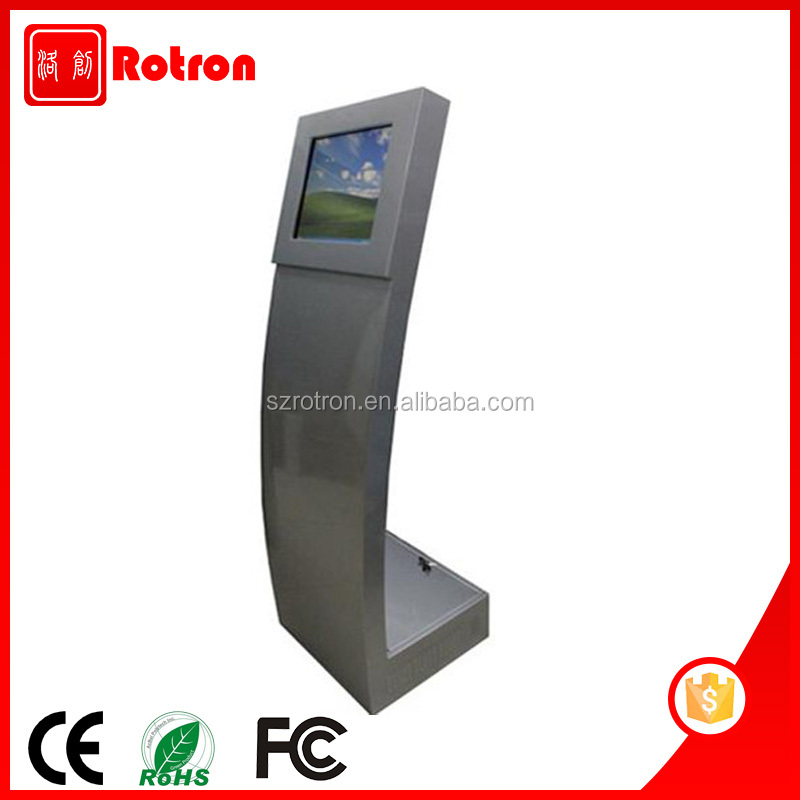 High Safety Self service Windows 10 free standing hotel check in kiosk with 3G WIFI