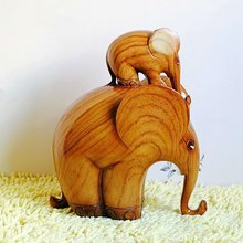 2012 resin crafts elephant statues Mom&son elephant figurines home ornament