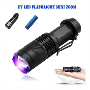 Checker Cash Detection SK68 Zoomable Wavelength 365nm 395nm Purple Ultra Violet Light UV Black Light Torch Led UV Flashlight