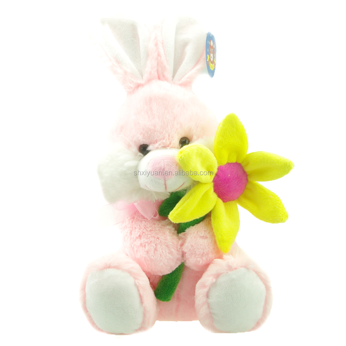 Peluche Toys Rabbit Pink Bunny With Flower Cute Bunny Plush Toys
