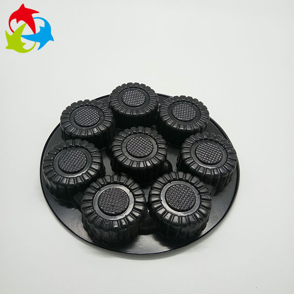 OEM Design Black Round Plastic Blister Chocolate Tray