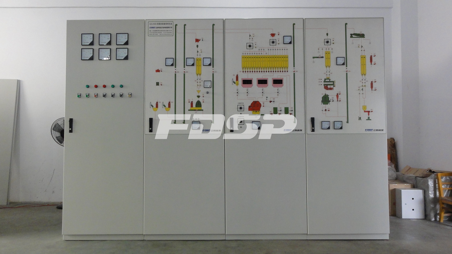 Automatic Electric Control System Center For Animal Feed Plant Silo Engineering Plc