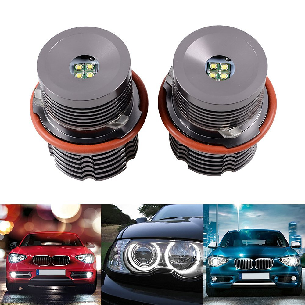 2x High Power Xenon White 6000K 20W 40W CREE LED Angel Eye Halo Ring Marker Light Bulb For BMW 645 650I 650 745LI 745I 745 750 760 760I 760LI V12